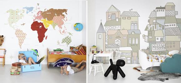 Carta da parati per la cameretta mercatino dei piccoli for Carta da parati 3d bambini